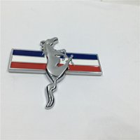 Wholesale 20 Metal D For Mustang Running Horse Emblem Chrome Badge Side Logo Car Stickers Decal