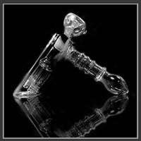 Cheap Glass Bongs Water Pipes Joint 18.8mm Glass Hammer 6 Arm Per Glass Percolator Bubbler Smoking Pipe Glass Gongs Recycler Clear e cigarette