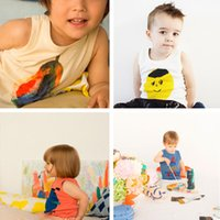 Wholesale Baby Clothes Bobo Choses New Kids Casual Cotton T shirt Fashion Kids Clothing Summer Cartoon Vest Children Boys Girls Top Tees Outfit