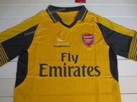 arsenal soccer t shirts - Arsenal away yellow Football Shirts fans version soccer jersey thai quality Football Jerseys Single T Shirt Soccer Short sleeve