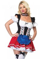 adult plus halloween costumes - hot oktoberfest halloween costume for women Sweetheart Beer Girl Adult sexy party dress plus szie S XL