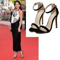 easter dresses for women - Plus Size High Heels Sandals Open Toe Ankle Strap Elegant Women Sandals Patent Leather Dress Shoes for Women Stilettos
