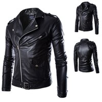Wholesale Men Leather Jacket Real Goat Skin Fashion Brand Black Short Soft Men s Genuine Leather Coat