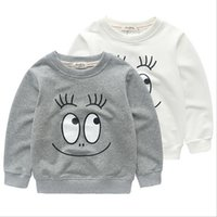 Wholesale 2017 Brand New Baby Kids Sweater T shirt Sporting Girls Boys Smile Face Big Eyes Top Children Pullover Winter Spring Autumn Clothes