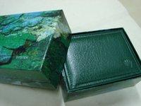 Wholesale luxury top brand watches men women fashion watch box very weight box big green watch box square wood box