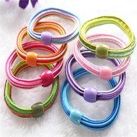amazon bead - 100pcs rainbow elastic bead rubber Bands Hair ties Hair ring hair wear Hair Accessories for children girl women amazon extra gift