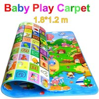 Wholesale New Doulble Site Baby Play Mat Meter Fruit Letters And Happy Farm Child Beach Mat Picnic Carpet Baby Crawling Mat CM