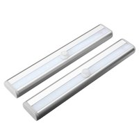 Wholesale Stick on Anywhere Portable LED Wireless Motion Sensing Closet Light Cabinet Night Light Step Light Stairs Light Battery Operated silver