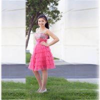 bat mitzvah - 2016 Hot Pink Knee Length Prom Dresses Bat Mitzvah Dress Sweetheat Beaded Crystals Ruffles Girl Graduation Party Gowns