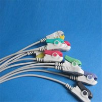 Wholesale One Peice EKG Cable with Leads IEC Grabber PIN kohm Resistance Soft TPU Cable CMD0143A