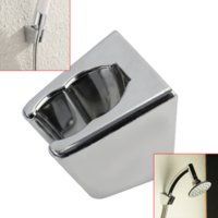 bath fixing brackets - 48mm ABS Shower Head Stand Wall Mount Fixed Wall Suction Bracket Bath Shower Head Holder Bracket Bathroom faucet Accessory