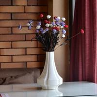 Wholesale Modern minimalist simulation flower dried flowers ceramic vase flower arrangements white home accessories table Decoration N