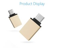 Wholesale New Metal micro USB Type C OTG Adapter Male to USB Converter Adapter OTG Function for Macbook Chromebook for cell phone iphone