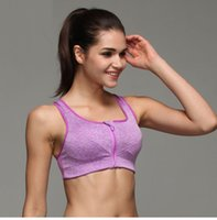 Wholesale New LEVEL Shock Professional Running Intensive Training Without Rims Snow Sports Bra Open Front Zipper Style Underwear Plus Size S M L