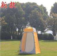 bathing shower doors - New style high quality ultralight big space toilet bathing shower tent