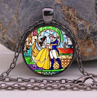 beauty jewellery - Beauty and the Beast necklace Flowers Rose jewelry Cothic Glass Photo Cabochon Necklace pendant Jewellery Gifts