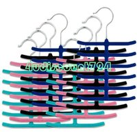Wholesale EN0916 RACK CLOSET ORGANIZER SCARVES BELT NECK TIES NON SLIP HOLDER HANGER HOOK