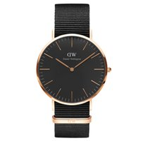 Wholesale The New DW Black Face Watch Men Brand Luxury Fashion Casual Nylon Strap Wristwatch Quartz Watch Women Ladies Dress Watch Sport Watches Men