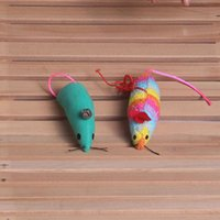 Wholesale Cat toy mouse Long tail cloth mice toy Products for pet cat Artificial cat scratch random color Size cm