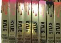 Wholesale Good Quality Kylie Jenner Limited Birthday Edition Gloss color gold lid lipgloss gold box lipstick Ready to ship