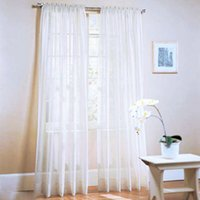 kitchen curtains - 2Pcs Window Door Curtains Voile Tulle for Bedroom Living Room Balcony Kitchen Decoration curtain Home Textile Decor