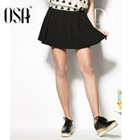 basics a types - OSA Summer solid black casual basic Femininas High Waist Elasticity mini above knee A type new women s Skirt S116B51014