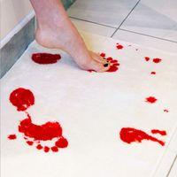 Wholesale Bath Mat British Blood Footprints Non slip Mats Creative Bloodstains Carpet Floor Dining room hallway living room hall study Decoration