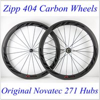 Wholesale 700C mm Zip Carbon Bike Wheels K Matt Tubular Clincher Full Carbon Wheels With Novatec Hubs And Black Spokes