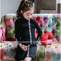 Wholesale Sheath Dress Kids - Fashion Lace Princess Dresses Children Clothes Kids Clothing 2016 Crochet Dress Long Sleeve Dresses Girl Dress Child Dress Lovekiss C28580