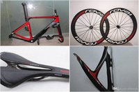Wholesale 2017 Fact Carbon road bike new full carbon fiber bicycle mattE glossy carbon road wheelset saddle