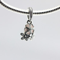 Wholesale 2016 NEW Spring Poetic Blooms Silver Charm Pendant with Clear CZ Sterling Silver Charms Fit Pandora Bracelet