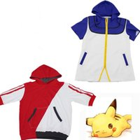 ash shirt - Poke Ash Ketchum Hooded Sweatshirts Hoodies Anime Pocket Monster Casual Shirts Blouse For Men Women