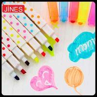 Wholesale cartoon dot diamond highlighter pen erasable color pens marker pen school supplies colors watercolor