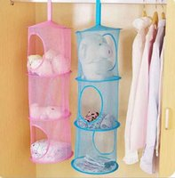 bedroom closet door - Shelf Hanging Storage Net Kids Toy Organizer Bag Bedroom Wall Door Closet
