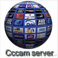 Wholesale cccam Year CCcam Europe cline Server with servers HD account for Spain UK Germany French Italy Poland Satellite Decoder with AV Cable
