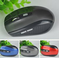 Wholesale 2 GHz USB Optical Wireless Mouse USB Receiver mouse Smart Sleep Energy Saving Mice for Computer Tablet PC Laptop Desktop USB Wireless Mouse