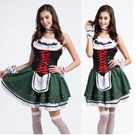 beer united states - Europe And The United States Beer Festival Costumes Grass Green Maid Outfit Fancy Dress Sexy Costume Restaurant Overalls Maid Outfits