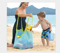 baby bedding collections - Green Blue Children Travel Foldable Multifunctional Sand Beach Bags Extra Large Mesh Nylon Oxford Toy Storage Bag Baby Collection Bags