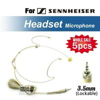 Wholesale microfono Headworn Condenser Headset Microphone For Sennheiser Wireless Body Pack Transmitter mm Screw Locking Plug microfoonr
