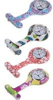 Wholesale Hot sale High Quality Nurses Doctor Fob Watch Brooches Silicone Leopard Tunic Batteries Medical Nurse Watch Drop Ship