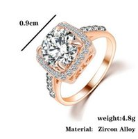 Wholesale Rose gold white gold zircon ring female romantic wedding ring Lord of the rings jewelry manufacturers