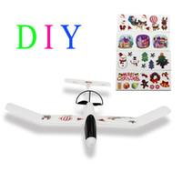 2016 de los niños juguetes educativos el aeroplano del planeador artesanía Hecho de material EPP Fácil montado mejor regalo de Navidad para sus niños