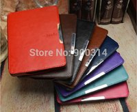 Wholesale Slim smart folio pu leather cover case for Amazon kindle paperwhite and Screen Protector stylus pen