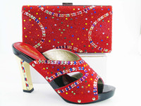 dresses shop - VIVILACE SHOP Hot sell shoes matching bags Italy design shoe and bag set with shinning stones