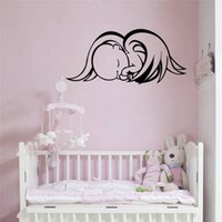 angle wallpapers - Sleeping Angle Baby Wall Stickers Nursery Kids Children Bedroom Decal Home Decor Car Poster Mural Wallpaper