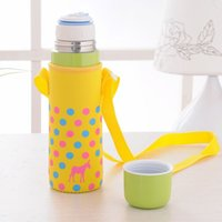 Wholesale 2015 Hot selling ml double layer stainless steel vacuum thermos flasks cup with a bag