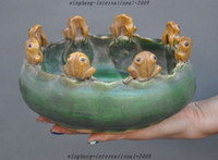antique porcelain dishes - Antiques china old porcelain carved frog bufo toad statue Dish plate bowl pot