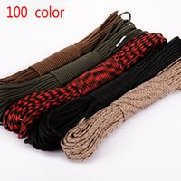 Wholesale 100 colors Paracord Paracord Parachute Cord Lanyard Rope Mil Spec Type III Strand FT Climbing Camping survival equipment