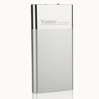 Wholesale Yulass External Power Bank with Torch mAh High energy Dual USB Portable Charger for iPhone iPad Samsung Motorola and HTC