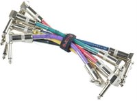 bass guitar length - 6pcs Male to Male mm Plug Bass Guitar Effect Pedal Amplifier Audio Connect Cable Length cm